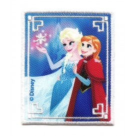 écusson disney elsa et anna la reine des neiges rectangle thermocollant n°2