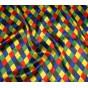 tissu satin carnaval arlequin largeur 143cm au mètre
