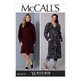 patron manteaux et ceinture McCall's M7479