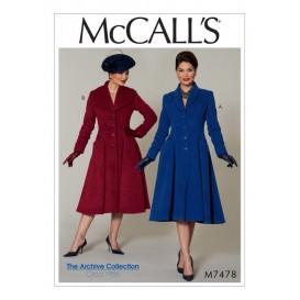 patron manteaux McCall's M7478