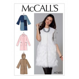 patron gilet et manteaux McCall's M7481