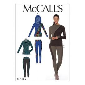 patron vestes et collants McCall's M7482