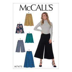 patron jupes, short McCall's M7475