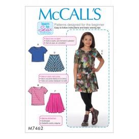 patron enfant hauts et jupes McCall's M7462