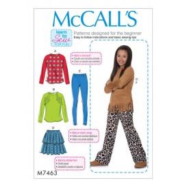 patron enfant hauts, jupe McCall's M7463