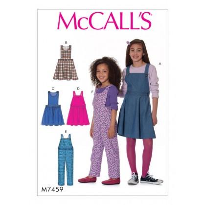 patron enfant chasubles, salopettes McCall's M7459