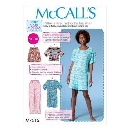 patron haut, robe, short McCall's M7515
