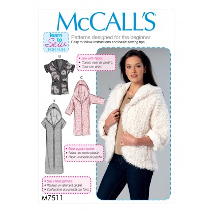 patron vestes très amples McCall's M7511