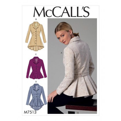 patron vestes ajustées McCall's M7513