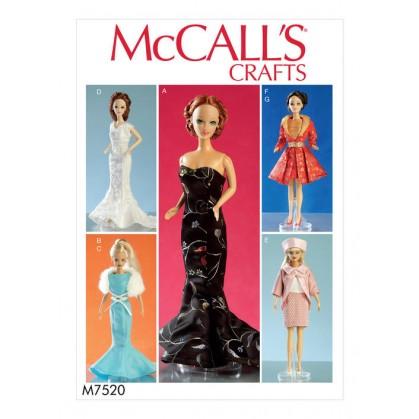 patron vêtement de poupée 30cm McCall's M7520