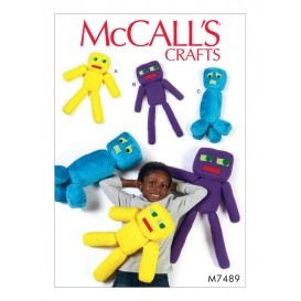 patron peluche robots jouet McCall's M7489