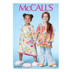 patron enfant haut, robe, pantalon McCall's M7496
