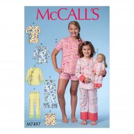patron enfant haut, short, pantalon McCall's M7497
