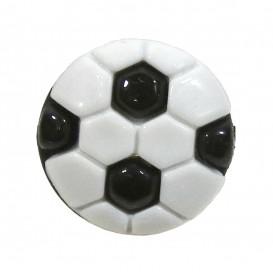 bouton enfant fantaisie ballon de foot noir 13mm