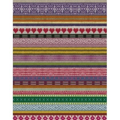 feuille décopatch frise tricot