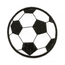 écusson ballon de foot 6,7cm thermocollant