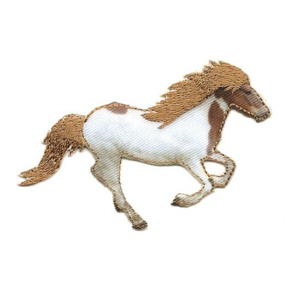 écusson cheval au galop thermocollant