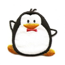 écusson pingouin thermocollant