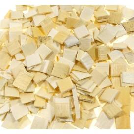 500 mosaïques en bois naturel 1x1cm