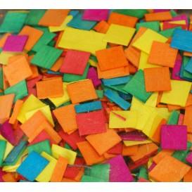 500 mosaïques en bois couleurs vives 1x1cm