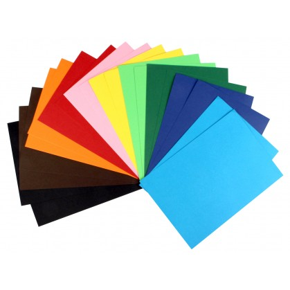 10 feuilles de papier couleurs épais A4