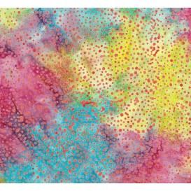 tissu patchwork makower batik multi pois largeur 110cm x 25cm