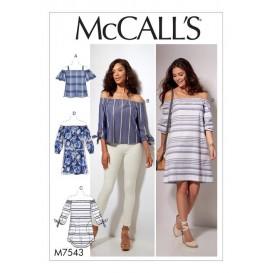 patron hauts, tunique, robe McCall's M7543