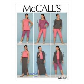 patron veste, hauts, jupe, pantalon McCall's M7548