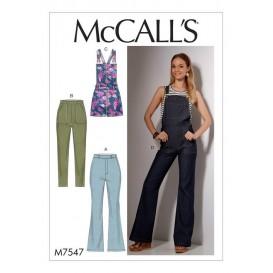 patron jeans et salopettes McCall's M7547