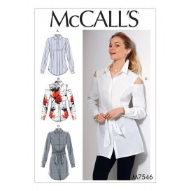 patron chemises ajustées McCall's M7546