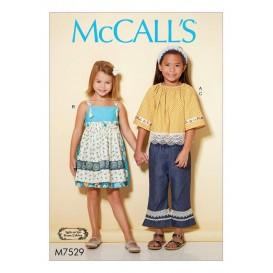 patron enfant haut, chasuble McCall's M7529