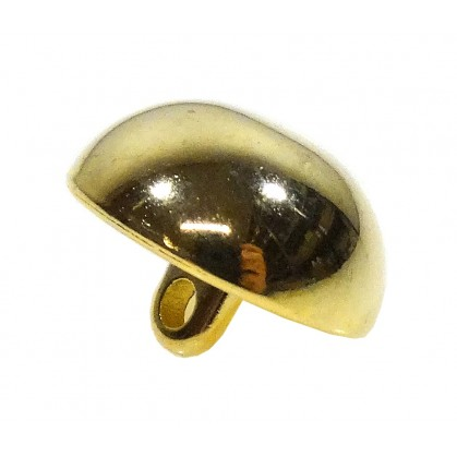 bouton demi boule hussard métal