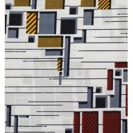 tissu africain wax blanc carré et rectangle largeur 113cm x 50cm