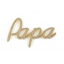 mot en bois papa