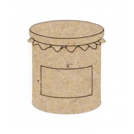 sujet en bois pot de confiture