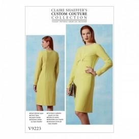 patron robe ajustée Vogue V9223