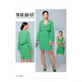 patron veste et robe Vogue V1536