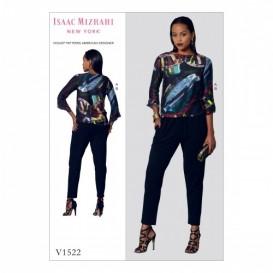 patron haute et pantalon Vogue V1522