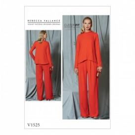 patron haut et pantalon Vogue V1525
