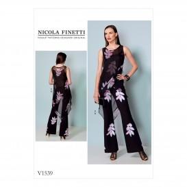 patron tunique et combinaison Vogue V1539