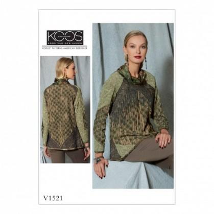 patron haut ample Vogue V1521
