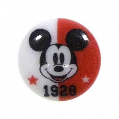 bouton disney mickey 1928 rouge 13mm