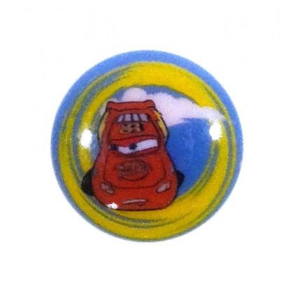 bouton disney cars bleu 15mm