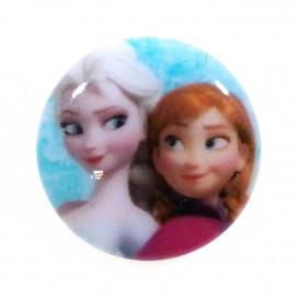 bouton disney la reine des neiges anna et elsa 18mm