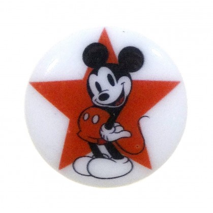 bouton disney mickey étoile rouge 23mm