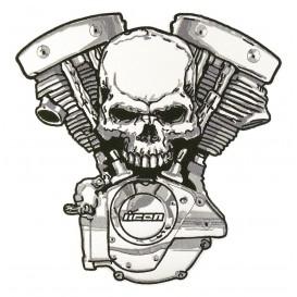 écusson biker moteur tête mort thermocollant