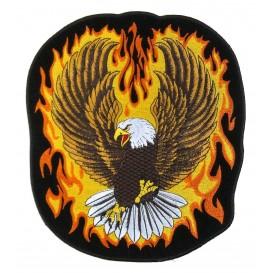écusson biker aigle flamme thermocollant