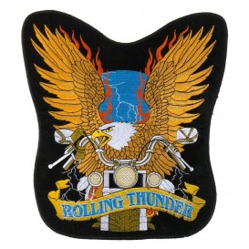 écusson biker aigle rolling thunder thermocollant