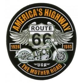 écusson biker route 66 thermocollant