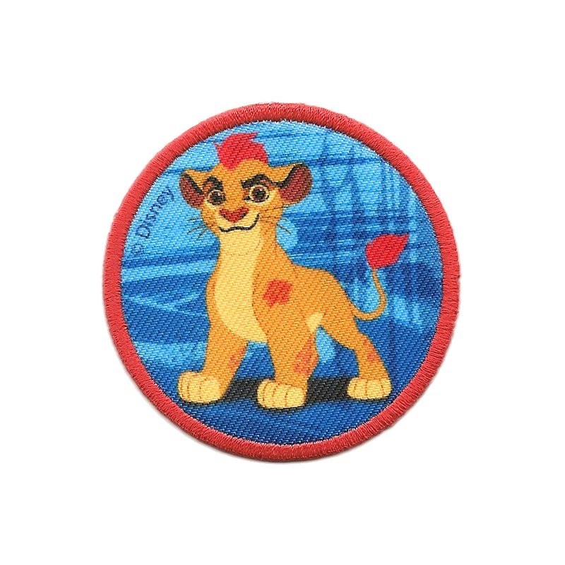 Cusson disney kion le roi lion rond thermocollant - Kion le roi lion ...